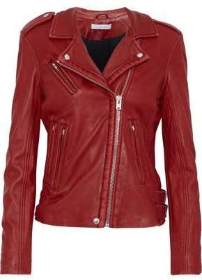 IRO Textured-leather Biker Jacket