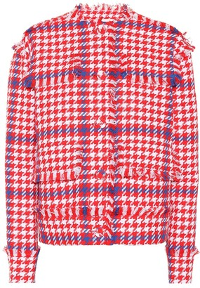 MSGM Houndstooth cotton-blend jacket