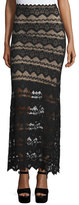 Nightcap Clothing Sierra Lace Maxi Skirt, Black