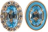 Alison Lou Diamond, topaz, enamel & yellow-gold earrings