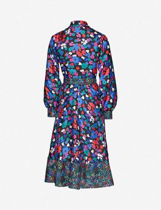 Stine Goya Reflection floral-print silk midi dress
