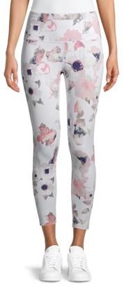 Apana Women's Active 7/8 Floral Printed Leggings