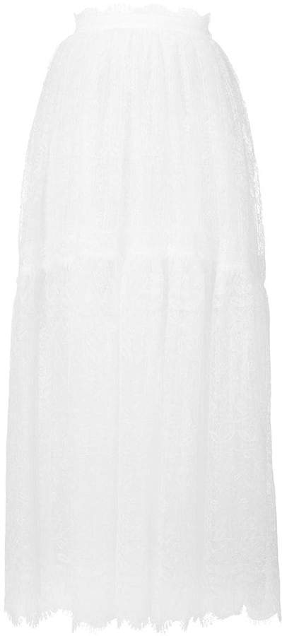 Ermanno Scervino long lace skirt