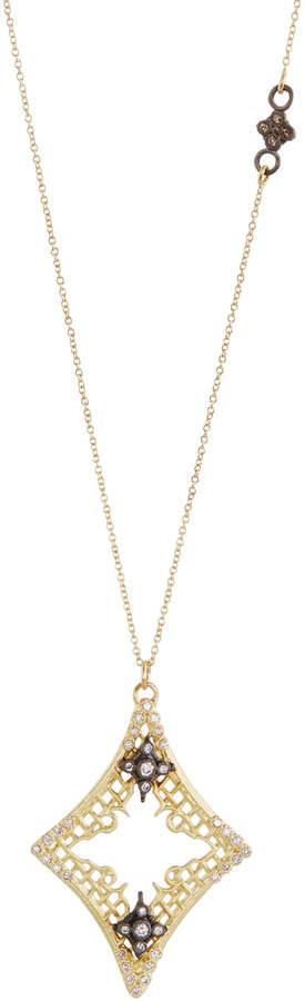 Armenta Old World Diamond Mesh Cravelli Pendant Necklace