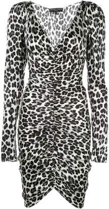 Caroline Constas animal print long sleeve dress