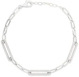 Sphera Milano Rhodium Plated Sterling Silver Link Bracelet
