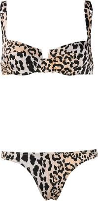 Reina Olga Leopard Print Two Piece Bikini