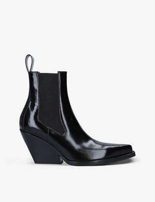 Bottega Veneta The Lean patent leather Chelsea boots