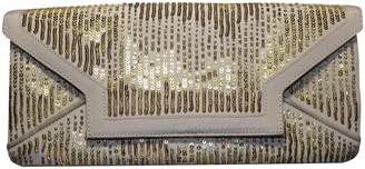 Oscar de la Renta Gold Cloth Clutch bags