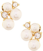 Anne Klein Pearl Cluster Clip-On Earrings