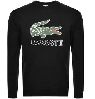 Lacoste Large Crocodile Sweatshirt Black