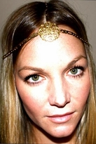 Vintage Asian Head Piece in Gold