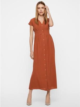 M&Co Vero Moda button front maxi dress
