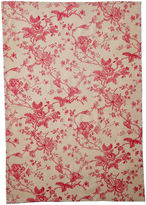 Maison Du Linge Old Rose Tea Towel, Red/Cream