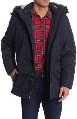 Nautica Faux Fur Trim Hood Puffer Jacket