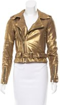 Rebecca Minkoff Metallic Leather Jacket