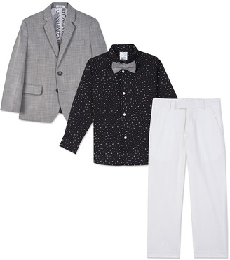 Calvin Klein Bold Dobby 4-Piece Suit Set (Little Boys)