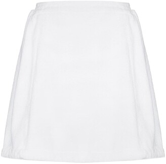 Terry. Effect Mini Skirt