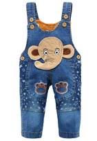 Kidscool Baby Cotton Denim Cute 3D Elephant Star Soft Overalls