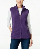 Karen Scott Fleece Zip-Front Vest, Only at Macy's