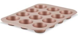Farberware Nonstick Bakeware 12-Cup Muffin Pan, Rose Gold