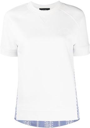 Karl Lagerfeld Paris mix-fabric T-shirt