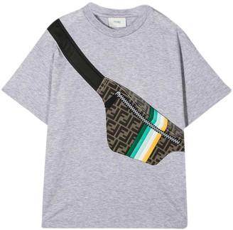 Fendi Gray T-shirt