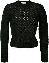Carven holey knit sweater - women - Cotton/Nylon - XS