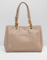 Asos Tote Bag With Statement Chunky Chain Detail