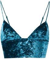 Fleur Du Mal velvet longline bra - women - Polyamide/Polyester/Spandex/Elastane - XS