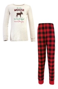 Hudson Baby Big Boys and Girls Family Holiday Pajamas