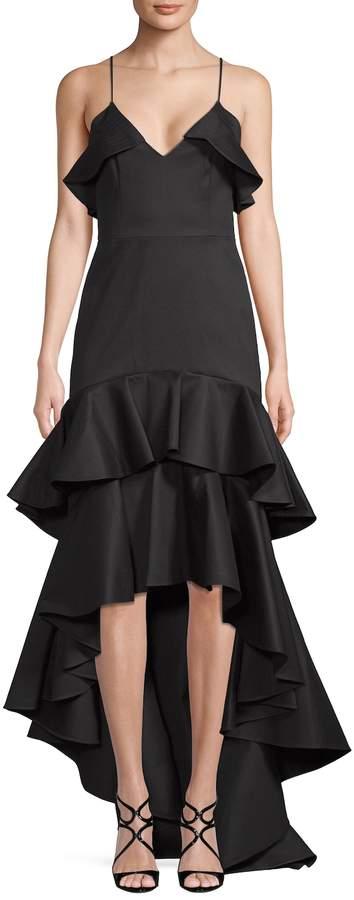 Alexis Women's Hi-Lo Ruffle Gown