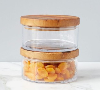 Pottery Barn Reclaimed Wood Lid Canister