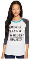 Rock and Roll Cowgirl 3/4 Sleeve Tee 48T3533 Women's T Shirt