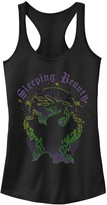 Disney Juniors' Disney's Sleeping Beauty Maleficent Green Flames Tank