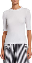 Rosetta Getty Cotton Cropped-Sleeve T-Shirt