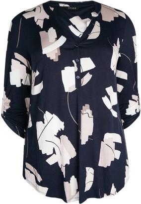 Evans Brushstroke Jersey Shirt - Navy