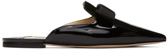 Jimmy Choo SSENSE Exclusive Black Patent Galaxie Loafers