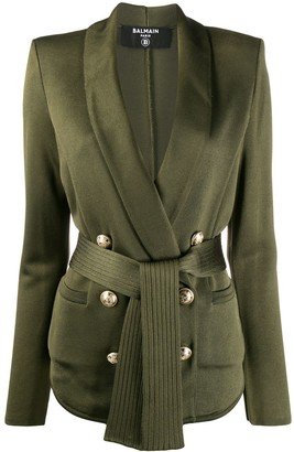 Balmain Belted Double-Breasted Jacket