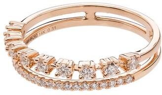 Dana Rebecca Designs 14kt rose gold Ava Bea double-row ring