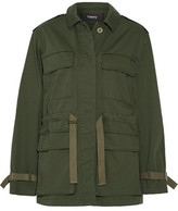 Theory Thornwood Grosgrain-Trimmed Cotton-Twill Jacket