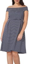 Dorothy Perkins Plus Size Women's Off The Shoulder Stretch Knit Dress