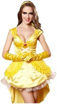 Yipost Women's Princess Golden Belle Magical Dress Halloween Custome Cosplay