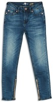7 For All Mankind Girls' Ankle Zip Skinny Jeans - Sizes 7-14