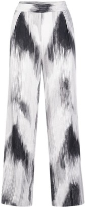 Natori High-Rise Abstract-Print Trousers