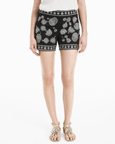 White House Black Market 5-inch Embroidered Shorts