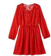 Speechless Girls Plus Size Clip-Dot Dress