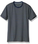 L.L. Bean Signature Textured Knit Crewneck Tee, Short-Sleeve Stripe