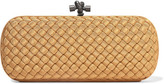 Bottega Veneta The Knot Intrecciato Grosgrain Clutch - Gold