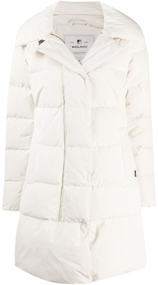 Woolrich Quilted Funnel-Neck Coat